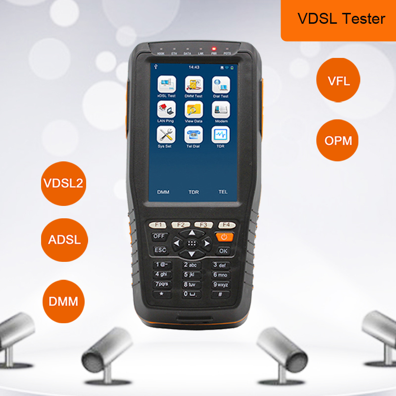 TM 600 VDSL VDSL2 Tester ADSL DMM OPM VFL WAN & LAN Tester xDSL Line Test Equipment DSL Physical layer Test