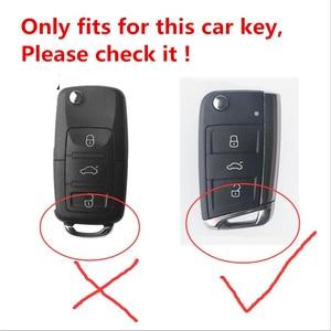 Image 2 - Artificial Crystal key case cover shell holder for VW Polo Golf 7 Tiguan for Skoda Octavia Karoq for SEAT Ateca Leon Ibiza 2015