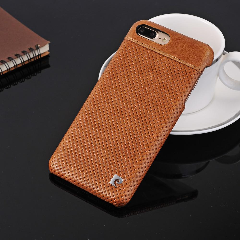 imágenes para Para el iphone 6 6 s 7 Plus Pierre Cardin 2017 Nuevo Diseño Cuero Genuino de la manera Trasera Dura del Teléfono Celular Caso de la Cubierta w/Tracking número