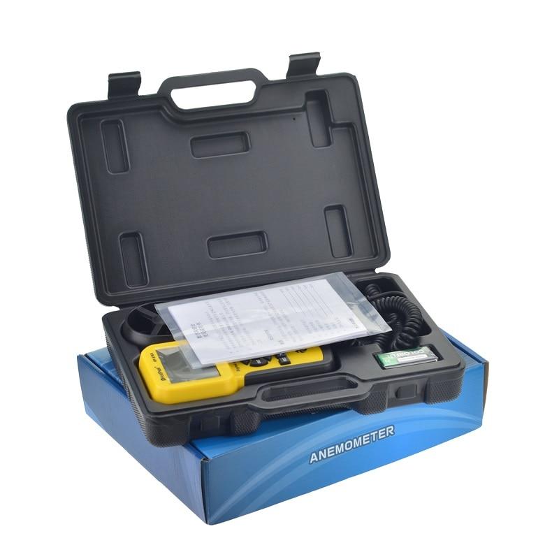 HoldPeak HP-836A compteur de Volume d'air à vitesse de vent numérique anémomètre portable avec enregistreur de données et étui de transport - 5
