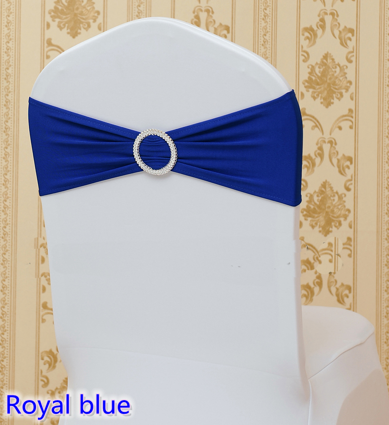 Tremendous Us 0 4 Royal Blue Colour On Sale Chair Sash With Round Buckles For Chair Covers Spandex Band Lycra Sash Bow Tie Wedding Decoration In Sashes From Pdpeps Interior Chair Design Pdpepsorg