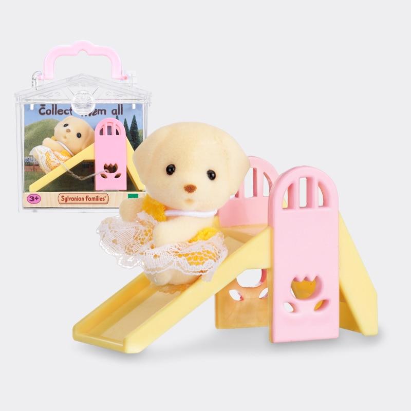 Praktisch Sylvanian Families Hund Baby Und Rutsche Satz Puppenhaus Tier Pelzigen Spielzeug Figuren Mädchen Geschenk Neue 5204 Den Speichel Auffrischen Und Bereichern Haushalts-spielzeug