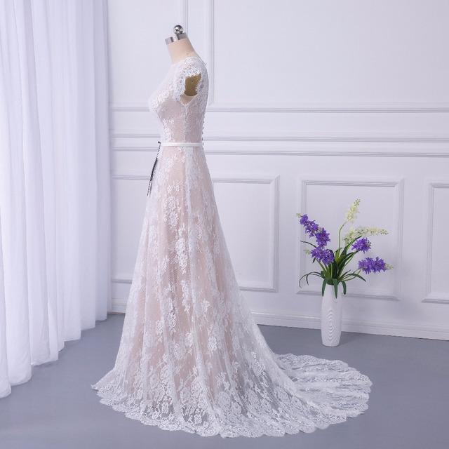 Bridal Boho Lace Wedding Dress Wedding Dresses Court Train vestidos de noiva robe de mariage long Robe de Maria casamento