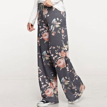 купить TOIVOTUKSIA Palazzo Pants Women High Waist Wide Leg Pants Pantalon Palazzo Mujer Harem Ethnic Print Baggy Sweatpants Women дешево