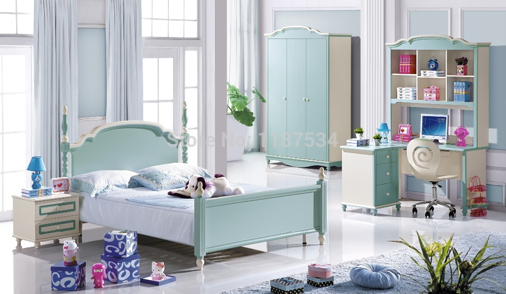 6609# colorful bedroom furniture set bed wardrobe and desk bedroom furniture set modern bedroom set coiffeuse table de maquillage nightstand 2017 hot sale bedroom set furniture with bed and wardrobe dresser