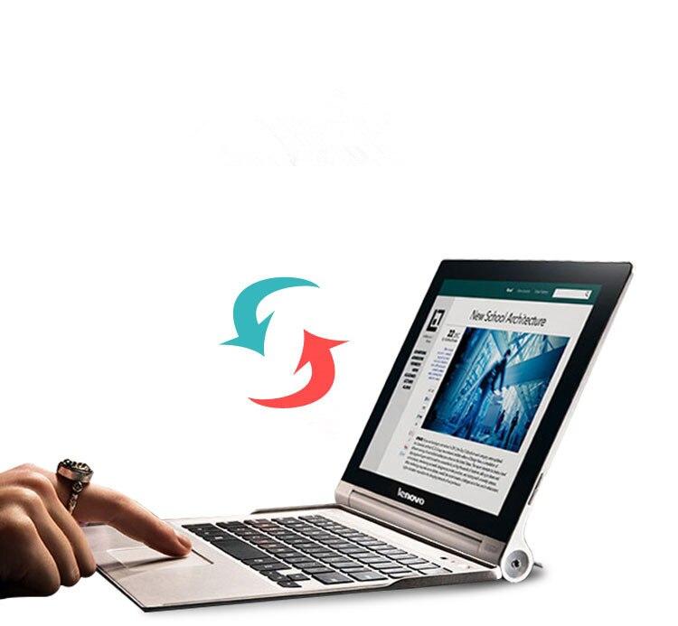 Original do Bluetooth para Lenovo Teclado Yoga 10.1 Recarregável Touchpad Russo Árabe Espanhol Alemão Francês 2 Pro 3 Mod. 1282151