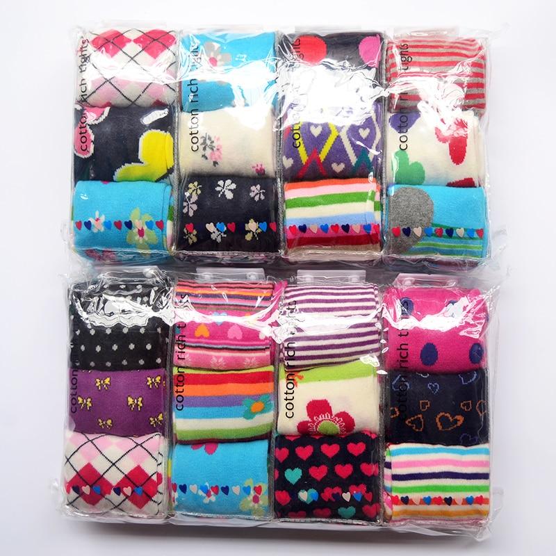 3pairs / Pack 1-8y Pantimedias de algodón para bebé Medias para niños Medias para bebés Medias para niños Medias a rayas para niñas Color Entrega al azar