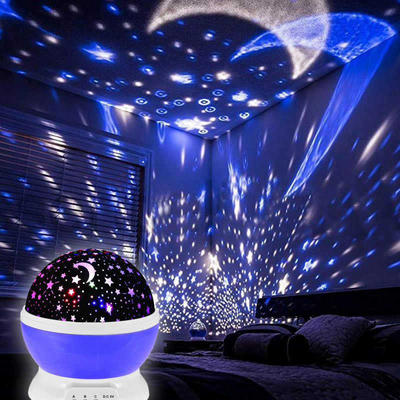 Novelty Light Up Projector Moon Toys Stars Sky Glow In The Dark Night Light Decorative Children Room Creative Sleeping Gift