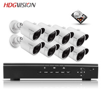 HDGVISION 48V 8CH 1080P Full HD NVR Kit POE CCTV System Outdoor 2 0MP IP Camera