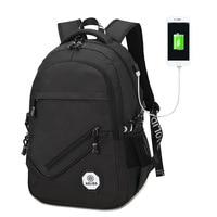 AOLIDA Backpack Men Women Canvas Bag Backpacks Men Travel USB Designer Capacity Male Backpack For School