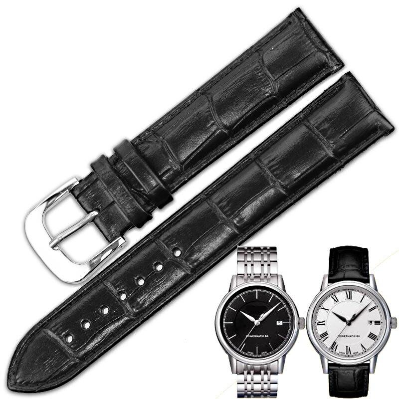 ISUNZUN Watch Bands For Tissot Men And Women Genuine Leather Watch StrapT085 T085407 410 Leather Watch Strap Watchbands in Watchbands from Watches
