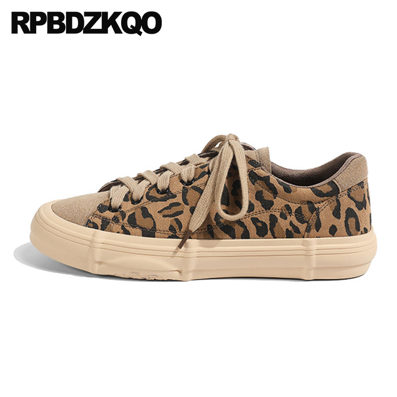 Harajuku Leopard Print Patent Leather 2019 Canvas Suede Designer Shoes Women Luxury Ladies Flats Sneakers Trainers Chic Genuine