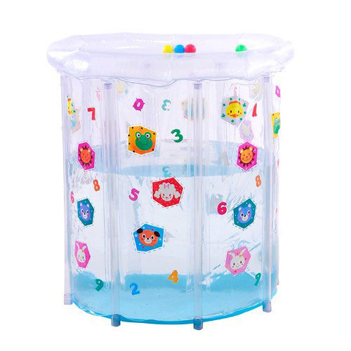 Baby pvc transparent colored drawing baby swimming pool 8 mount