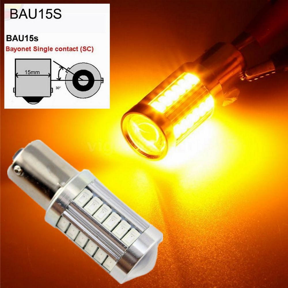 2 pieces 1156 BAU15S PY21W 150 Degree 33 SMD 5630 1056 Yellow Red CAR LED Stop Parking Lamp Brake Lights 12V 33-SMD 5630 Amber кусачки для ногтей 1056 men b 15 мм