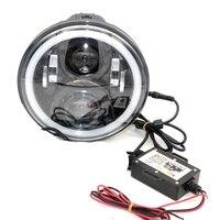 7 дюймов мотоциклетные светодиодный проектор DRL LED фары для автомобиля с RGB свет ангела телефона с помощью технологии Bluetooth пульт дистанционн