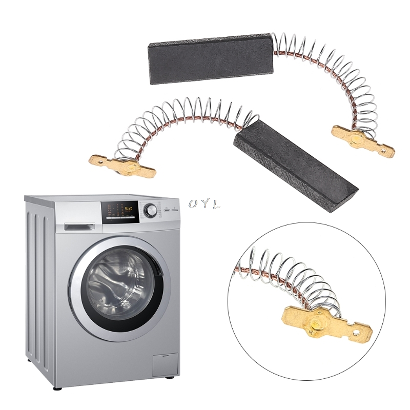 L94MF7 For Siemens 5x13.5 2Pcs//set Washing Machine Motor Carbon Inserts Brushes.