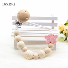 Butterfly Baby Pacifier Chain Safe Teething Chain Infant Nipple Soother Holder Chain BPA Free  Newborn Baby Pacifier Clips