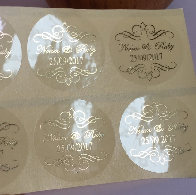 90 damask wedding personalised clear bomboniere envelope sticker seals labels