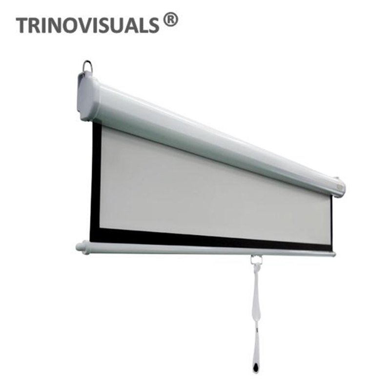 """100/"""" 1:1 Manual Pull Down Projector Projection Screen Home Outdoor Cinema Movie"""