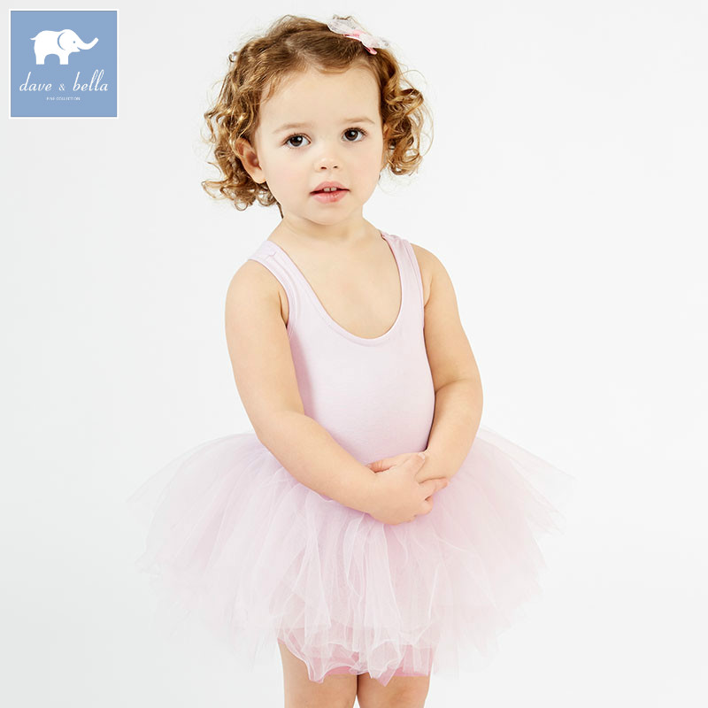 DB7396 dave bella summer infant baby girls Princess ballet dress children birthday party wedding dress kids lolital clothes ювелирные серьги sokolov серьги