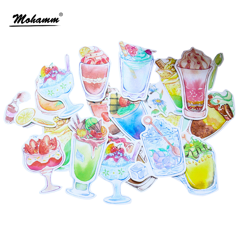 Creative Summer Ice Cream Cup Mini Paper Sticker Set Decoration Diy Ablum Diary Scrapbooking Label Stickers Kawaii Stationery