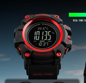 5e1abb963425 Azul del reloj SKMEI 2019 nuevos deportes reloj de hombre horas podómetro  calorías Digital Reloj de pulsera altímetro barómetro brújula termómetro  tiempo ...