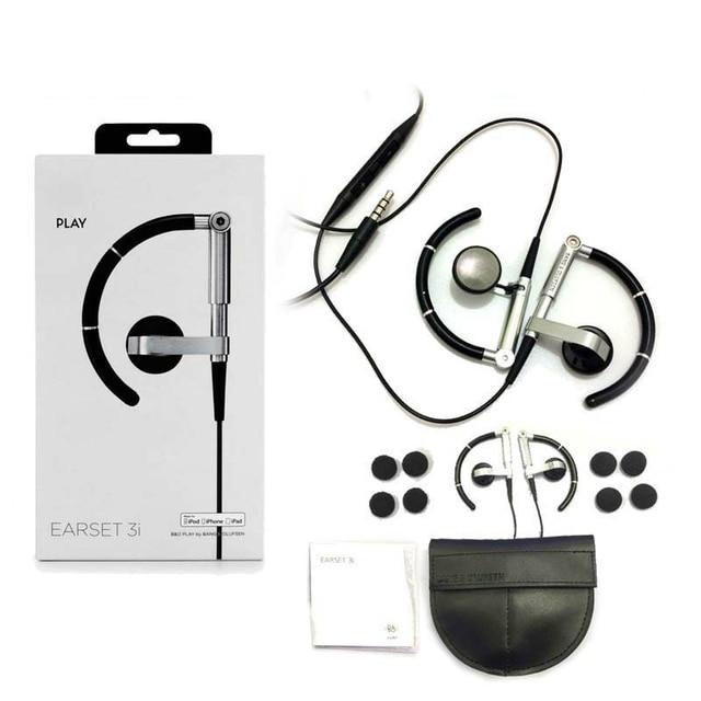 B & O EARSET 3i Wired Sports Driving Correndo fone de Ouvido Com Microfone Para iphone 5s 6 7 além disso android smart mobile mini gancho do ouvido fone de ouvido