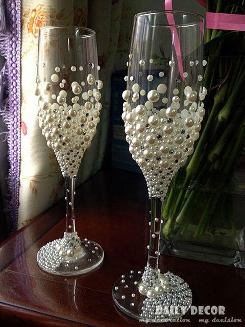 Wedding Wine Gl Decorating Ideas
