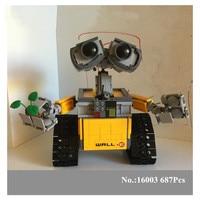 New 687pcs Lepin 16003 Idea Lovable Robot WALL E Building Block Minifigures With Legoelieds 20313