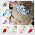 1 piece bebé de la manera venda de la flor de rose de la gasa flor niños infant toddler girls headwear niños accesorios