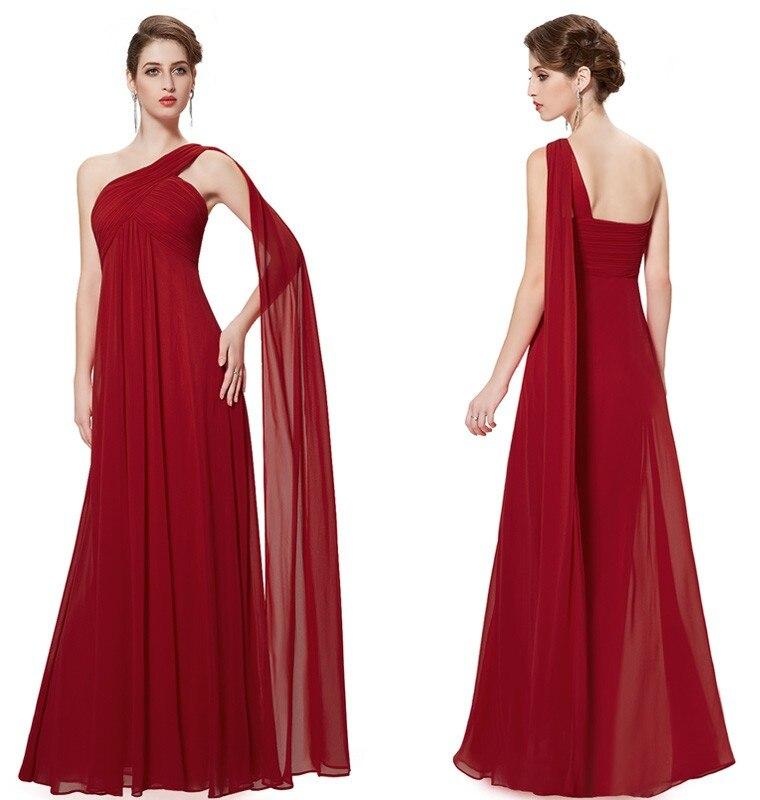 Ühe õlapaelaga pidulikud kleidid