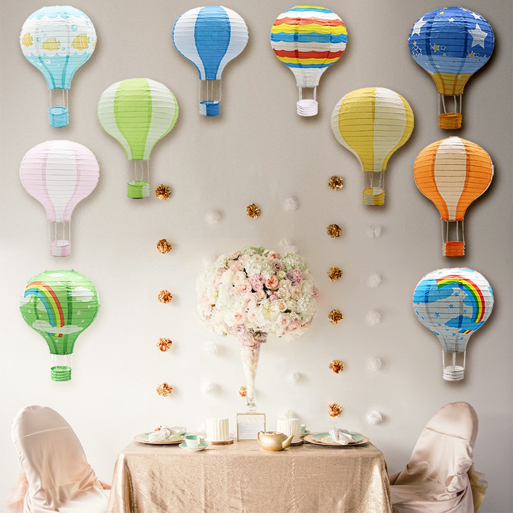 METABLE Set of 10 Reusable Chinese Japanese Party Ball Lamps Decorations Wedding Birthday Anniversary Christmas baby shower in Lanterns from Home Garden