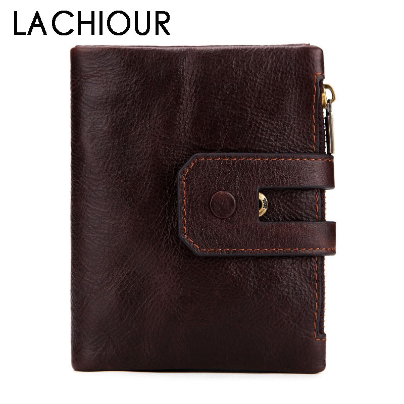 RFID Blocking Genuine Leather Men Wallets Short Coin Purse Vintage Wallet Cowhide Leather Card Holder Pocket Purse Men Wallets men wallets 2017 vintage 100% genuine leather wallet cowhide clutch bag men s card holder purse with coin pocket