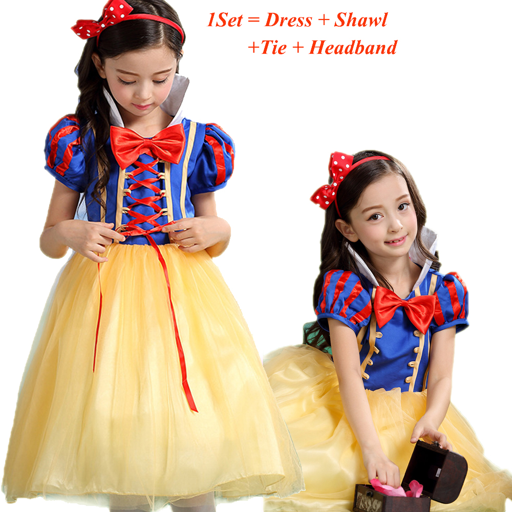 Christmas dress teen - 2016 Hot Children Cosplay Costume Christmas Dress For Girls Snow White Dress Kids Dresses With Cloak Tutu Princess Dress Teen 14