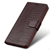 Genuine For Xiaomi Redmi Note 7 Flip Leather cover case protector case for Note 7 back housing capa Original funda coque