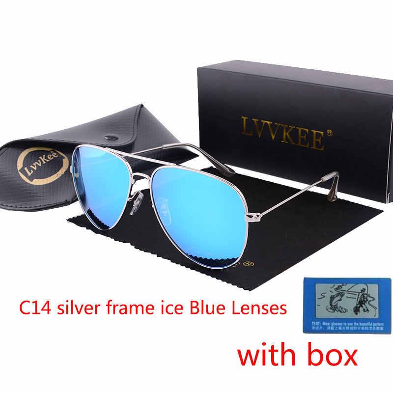 8f13ea8f4e lvvkee pilot sunglasses men polarized uv400 high quality 2018 brand mirror  women driving Fashion Sun glasses