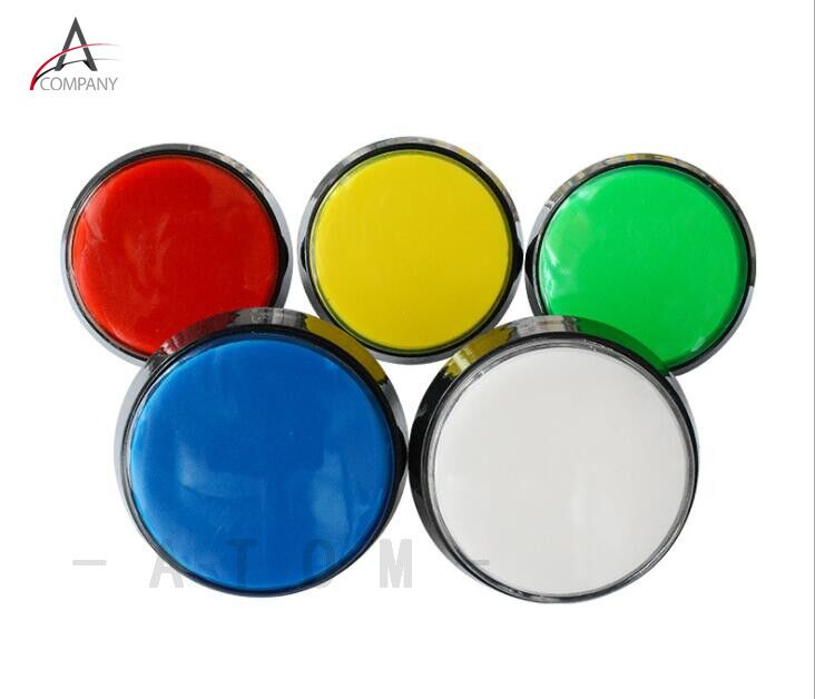 Arcade Button 5 Colors LED Light Lamp 60MM Big Round Arcade Video Game Player Push Button Switch(China)