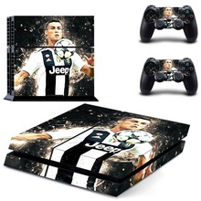 Juventus Cristiano Ronaldo PS4 Skin Sticker Decal Vinyl for Sony Playstation 4 Console and 2 Controllers PS4 Skin Sticker
