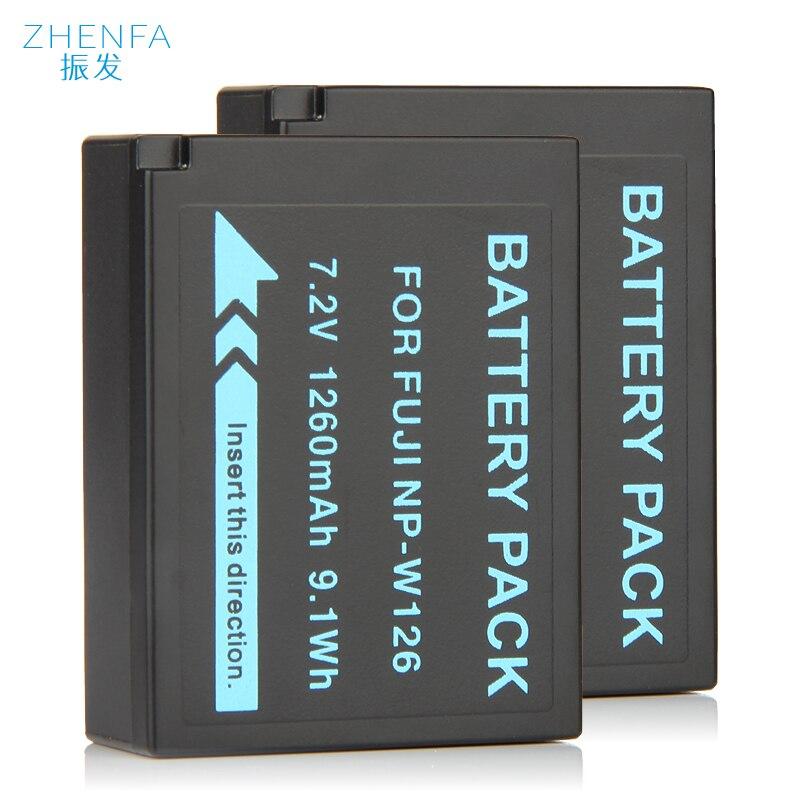 2x 1260mAh NP-W126 NP W126 Battery for Fujifilm FinePix X-PRO1 X-T1 X-M1 X-T10 X-T2 X-T3 PRO1 XT1 XM1 XT10 XT2 XT3 Batteries