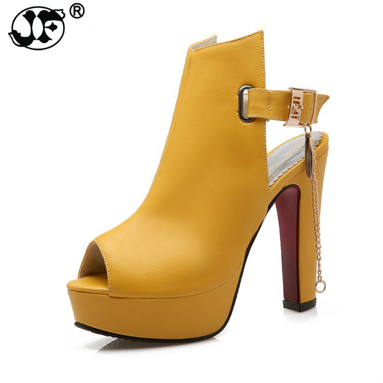 Shoes Women High Heels Pumps Spring Peep Toe Gladiator Shoes Female Chains Sequined High Heels Platform Shoes Yellow meotina shoes women high heels pumps spring peep toe gladiator shoes female chains sequined high heels platform shoes yellow 43