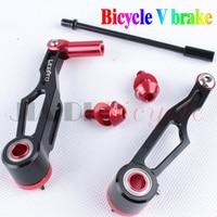 Folding Bike Brakes V Brake Modified Brakes 7075 Aluminum Alloy Black, Red, Silver One Pair Of Dress Semi Car Parts Fitting