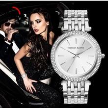 Ladies Wrist Watches Top Luxury Brand Silver Steel Women