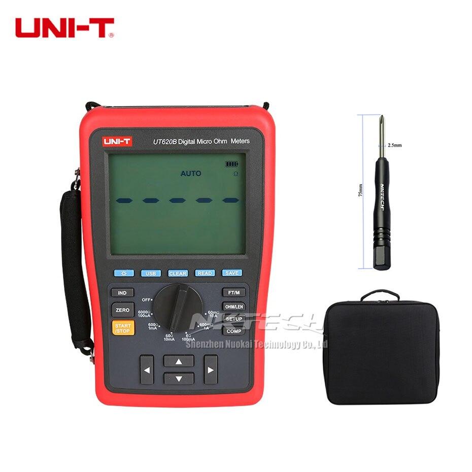 DHL Livraison Gratuite UNI-T UT620B Numérique Micro Ohm Mètres Faible Résistance Testeur USB Transmission