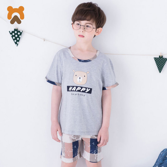 b6a385bcc Baby Boys Short Clothes Sets Cotton Summer Children T Shirt+Pants 2 ...