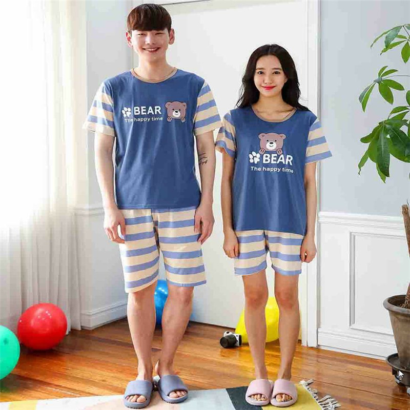Summer Newest Men/Women fashion Character printing Short sleeved shorts Sleepwear Couple ...