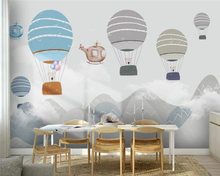 beibehang Customized modern Nordic geometric hot air balloon wallpaper childrens room background papel de parede papier peint