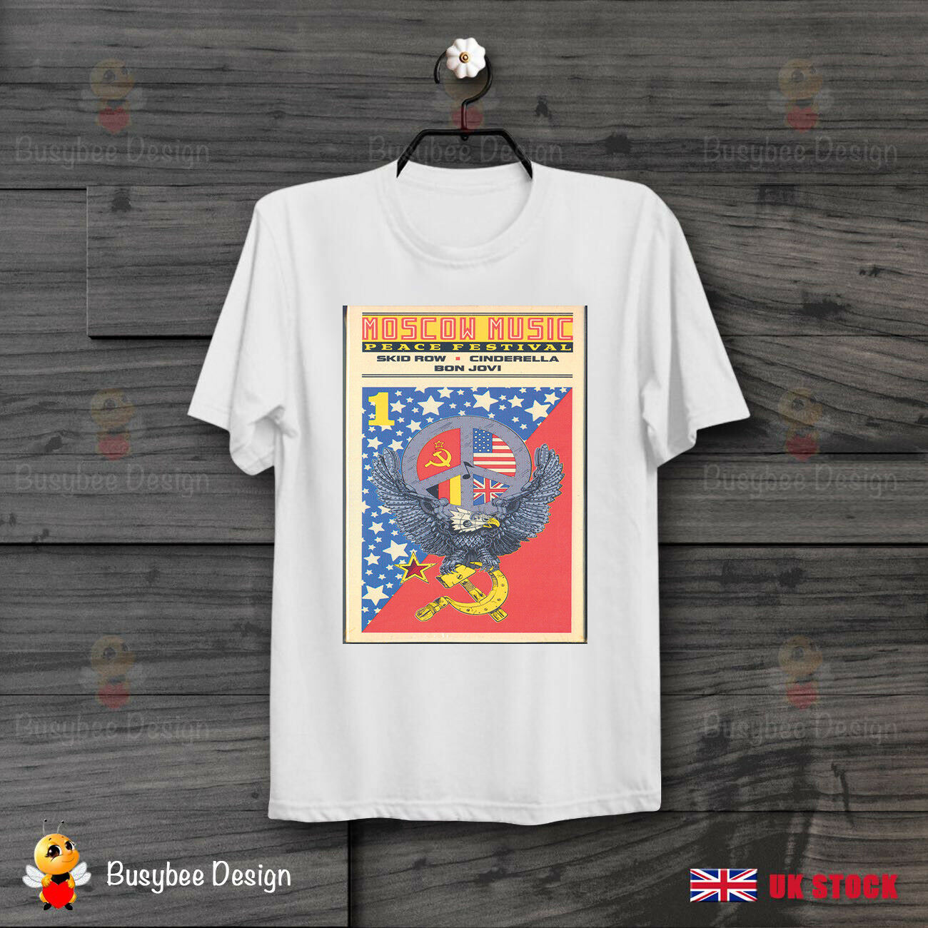 Moscow Music Festival Poster <font><b>T</b></font> <font><b>Shirt</b></font> 80S Rock Motley Crue Bon Jovi <font><b>Skid</b></font> <font><b>Row</b></font> Hot 2019 Fashion Cotton <font><b>T</b></font>-<font><b>Shirt</b></font> Custom <font><b>T</b></font> <font><b>Shirt</b></font> image