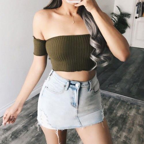 2018 New Stock Women Summer Vest Crop Top Sleeveless Shirt Casual T