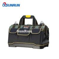 1pcs Plastic bottom repair toolbag 1680D Oxford cloth tool bags single shoulder portable kit waterproof tool kit