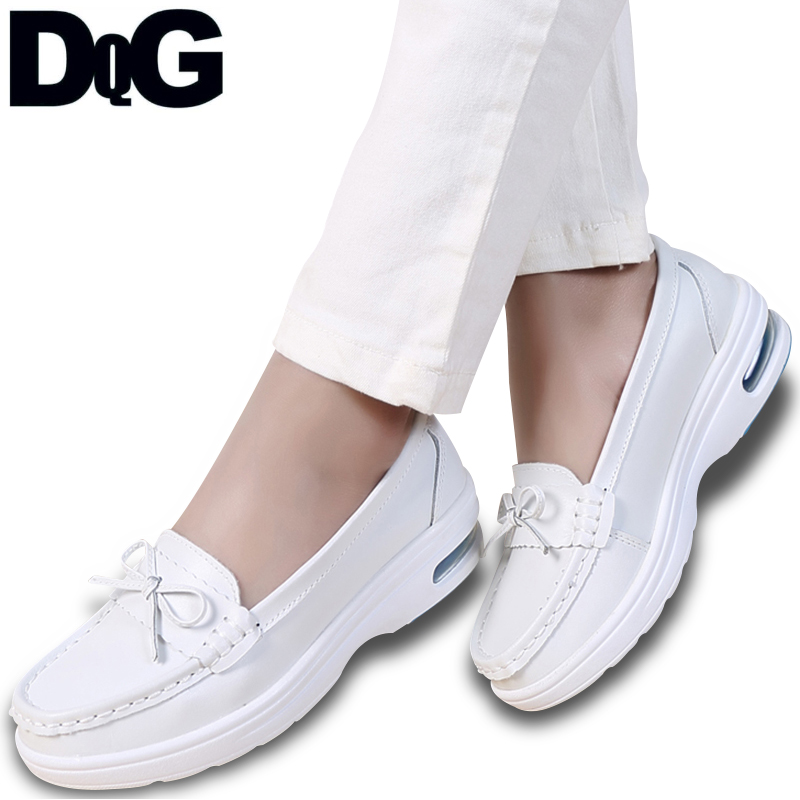 DQG נשים אחות נעלי 2018 חורף אוויר כרית Enfermera נעלי לבן מזדמן להחליק על דירות נעלי עבודה שטוח פלטפורמת Zapatos mujer